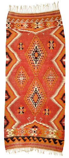 Vintage Cal Kilim Rug around 60 years old.