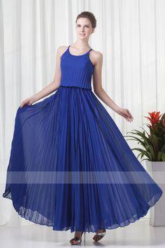 Charming A-line Ankle-length Ruffles Chiffon Prom Dresses