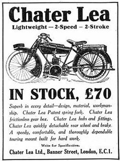 Chater Lea advert.