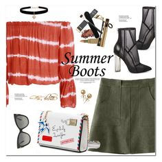 """Summer Booties"" by oshint ❤ liked on Polyvore featuring Steve Madden, Betsey Johnson, Tom Ford, Bling Jewelry and GUESS"