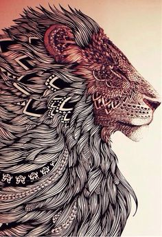 • drawing Illustration art Cool hippie hipster Awesome design pencil Grunge tattoos inked lion trendy sweet Poster fur pen lions higglyormin •