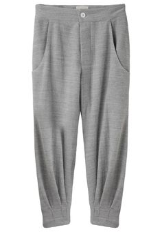boy by band of outsiders / cropped knit trouser Fashion Pants, Hijab Fashion, Fashion Outfits, Womens Fashion, Casual Outfits, Cute Outfits, Pantalon Large, Skirt Pants, Harem Pants