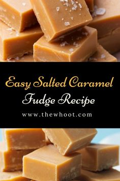 You will love this easy and delicious Salted Caramel Fudge Recipe and it is quick and easy. We have a video tutorial to show you how. Caramel Fudge Recipe Condensed Milk, Easy Caramel Fudge Recipe, Condensed Milk Recipes, Salted Caramel Fudge, Homemade Fudge, Caramel Recipes, Fudge Recipes, Candy Recipes, Condensed Milk Caramels