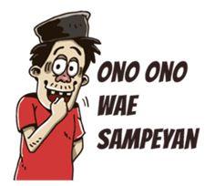 - Stiker LINE Cartoon Jokes, Cartoon Art, Phone Wallpaper Design, Javanese, Learn Korean, Funny Stickers, Thing 1, Line Store, Health And Safety
