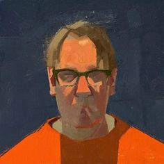 """SP Orange Shirt"" by Catherine Kehoe. @catherine_kehoe #catherinekehoe #painting #portrait by zoeyfrank"