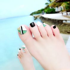 toenails, summer toenails toenail designs for summer, simple pedicures, hot toenails 2019 Pretty Toe Nails, Cute Toe Nails, Toe Nail Art, My Nails, Toenail Art Designs, Pedicure Designs, Korea Nail, Feet Nail Design, Summer Toe Nails