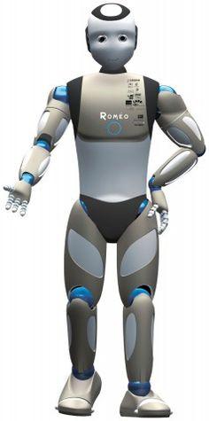 Früher Entwurf des humanoiden Roboters Romeo (Bild: Aldebaran)