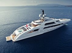 Motor Yacht #GalacticaStar with Interior design by Bannenberg & Rowell
