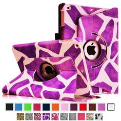 Fintie Apple iPad Air Case - 360 Degree Rotating Stand Case Cover with Auto Sleep / Wake Feature for iPad Air / iPad 5 (5th Generation) - Giraffe Purple Fintie,http://www.amazon.com/dp/B00G34O6V6/ref=cm_sw_r_pi_dp_-9s7sb005K2799MZ