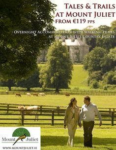 A luxury hotel in Kilkenny. Mount Juliet, Spa Breaks, Country Estate, 5 Star Hotels, Tour Guide, Bed And Breakfast, Spring Break, Walking, Tours
