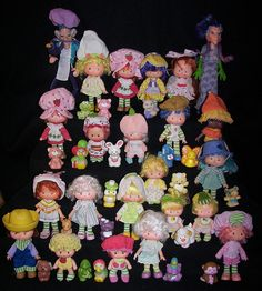 Strawberry Shortcake Dolls and their pets