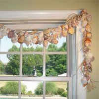 No fabric or sewing needed for this easy to make seashell window treatment. Step by step photo tutorial | In My Own Style