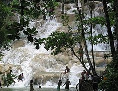 *Bob Marley* Jamaica, his cradle, his home island, his yard, and the birthplace of reggae.  Dunns River Falls, Ocho Rios. More fantastic pictures and videos of *Bob Marley* on: https://de.pinterest.com/ReggaeHeart/