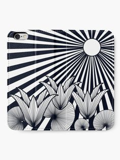 """""""The Sunset Flowers"""" iPhone Wallet by Asmo Turunen. #design #iphonewallet #iphonecase #atcreativevisuals"""