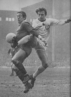 January Liverpool forward Ian St John tangles with former Leeds forward, Doncaster Rovers' Rod Johnson in the FA Cup Round Liverpool Football Club, Liverpool Fc, Doncaster Rovers, Class Games, Association Football, Liverpool England, Football Pictures, Fa Cup, Premier League