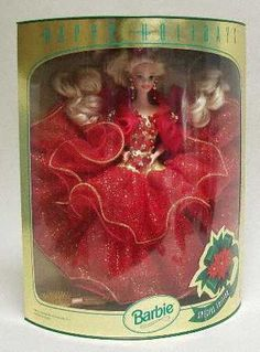 1993 Holiday Barbie was the first one I got. My mom got me one every year
