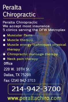 We accept most insurance  5 clinics serving the DFW Metroplex    Muscular Pains  Muscle therapy  Muscle energy techniques physical therapy  Chiropractic massage therapy  Neck pain therapy    Call - 214 842 3015