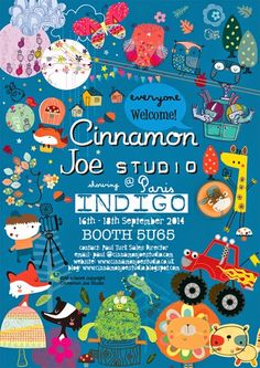 cinnamon joe...indigo...on print & pattern