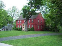 Image result for red colonial house