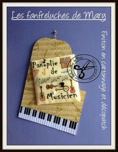 Panoplie de Musicien(ne) grille PX - patron broderie - Les fanfreluches de Mary - Fait Maison