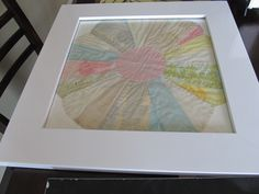 Framed Quilt for Children's Room- Made from Great-Great Grandmothers Quilt