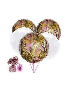 Pink Camo Balloon Kit - Balloon Kits and Individual Party Supplies