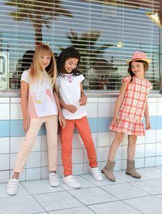 Chinohose mit Gürtel  #vertbaudet #Frühjahr #Sommer #2016 #Kinderkleidung #Mädchen