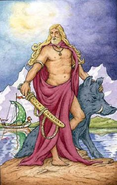 Freyr- associated with virility and prosperity, with sunshine and fair weather and was pictured as a phallic god. He bestows peace and pleasure on mortals. Ruler of Alfheimer, home to the Light-Elves.