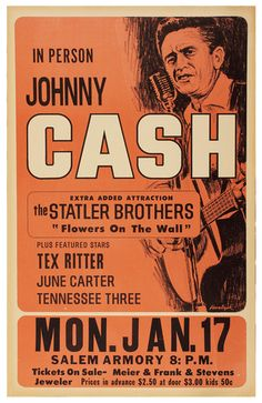 Johnny Cash Salem Armory - Mini Print