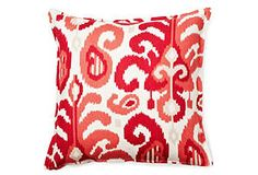 sale ends in less than 2 hours!  half off pillows!  Ikat 16x16 Pillow, Raspberry