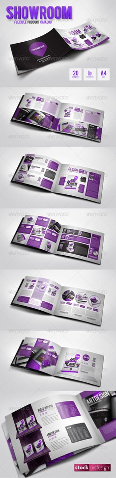 ShowRoom Flexible Product Catalog 20 pages   InDesign Templates   A4