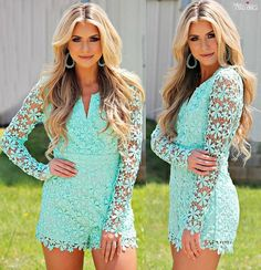 This Is Your Night Romper - Mint (PREORDER)