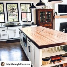 Island top New Countertops, Modern Farmhouse Kitchens, Exterior Colors, Bowling, Repurposed, New Homes, Projects, Kitchen Inspiration, Space