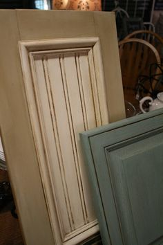 Loot: Chalk Paint Your Cabinets.  Country Grey and Old White  with Clear and Dark Wax Duck Egg blue with Clear and Dark Wax