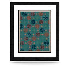 "Jolene Heckman ""Turquoise Mini"" Teal Flowers KESS Naturals Canvas (Frame not Included)"