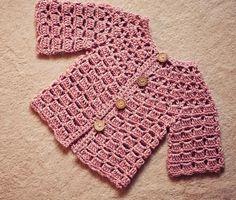 (4) Name: 'Crocheting : Crochet Lace Cardigan