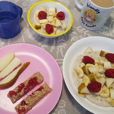 Raspberry Porridge Fingers | Friendly First Foods