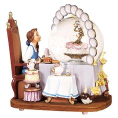 Disney Belle's Be Our Guest Snowglobe