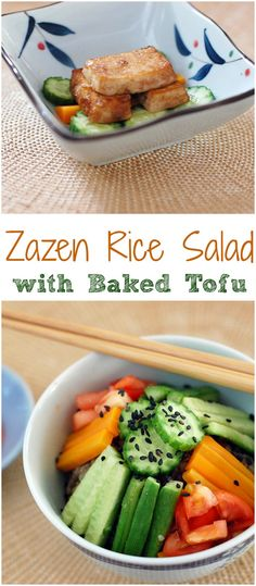 Vegan Golden Door Zazen Rice Salad with Baked Tofu @goldendoorartis @goldendoorspa