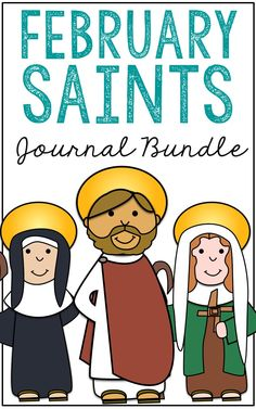 This BUNDLE includes notebook journal projects for three saints who have feast days in February - Saint Valentine, Saint Scholastica, and Saint Brigid of Ireland.  Each lesson includes 15 activities for your students of a wide age range including a mini-biography research sheet, geography of the saint, poetry, coloring pages, and Bible verse discovery. Store them in a folder for a unique keepsake journal!