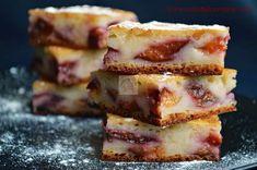 Prajitura cu prune si iaurt - CAIETUL CU RETETE Baking Recipes, Diet Recipes, Romanian Desserts, Mini Cheesecakes, No Bake Cake, Sweet Tooth, Sweet Treats, Good Food, Food And Drink