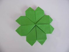 Origami Four Leaf Clovers Bring Good Luck on St. Patrick's Day: Choose Your Paper
