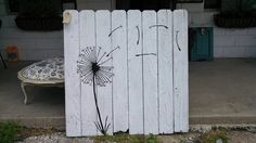 Dandelion Wood Art. I'd even like this on a back yard fence