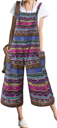 UP TO 55% OFF! Ethnic Bohemian Strap Pockets Loose Jumpsuits. SHOP NOW!