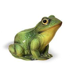 Intrada Green Frog Ceramic Statue