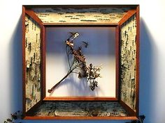 Hand Made Symetrical Mahogany And Birch Bark Frame by The Casey ...
