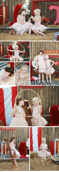 Circus Minis | Imagination Session | Hailey & Kennady | Raeford, NC Child Photographer | Patty K Photography