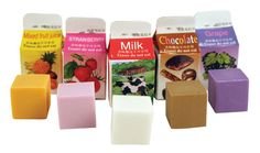 Refresh any error with these lightly scented erasers, which come in a fun milk carton package. Scents include: fruit juice, strawberry, grape, chocolate and milk. Carton is x x Cool Stationary, Stationary Supplies, Mixed Fruit Juice, Grape Juice, Eraser Collection, Cool Erasers, Paper Toy, Back To School Supplies, Japanese School Supplies