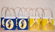 Do you love Disney's Beauty & The Beast? Then you'll absolutely LOVE these ideas for a Beauty and the Beast themed wedding. Beauty And Beast Birthday, Beauty And The Beast Theme, Beauty And The Best, Princess Belle Party, Princess Birthday, 6th Birthday Parties, Third Birthday, Birthday Ideas, Party Favor Bags