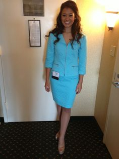 BLUE TAHARI SUIT- won at #NationalAmericanMiss state pageant http://www.pageantrack.com/product/BLUE-TAHARI-SUIT